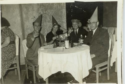Robert and Joan Freeman with Pepe Garcia and Alonso Menendez New Year 1939.